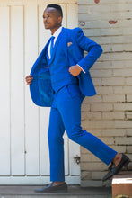 Load image into Gallery viewer, Royal Blue 3 piece suit - TheModernMan