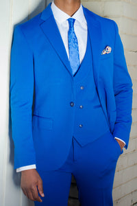 Royal Blue 3 piece suit - TheModernMan