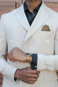 Double Breasted Cream Coat - TheModernMan