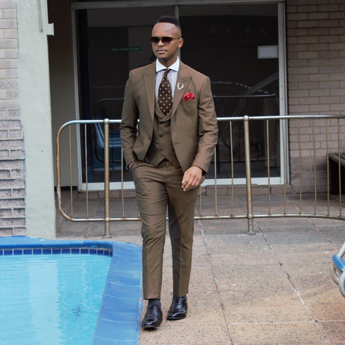 Brown 3 piece Suit - TheModernMan