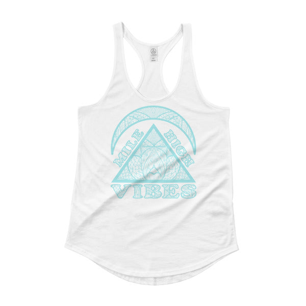 Mile High Vibes Racerback Shirttail Tank