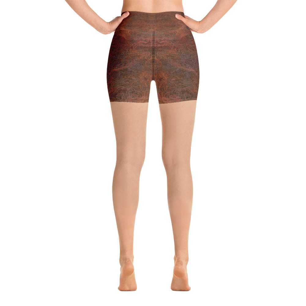 Rusted Routes Yoga Shorts