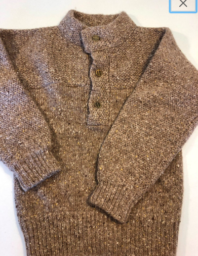 Christian Dior Vintage 80s Thick Wool Knits Oatmeal M
