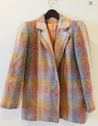 Mohair Originals by Denise Vintage Earth Blush tones Blazer Jacket M