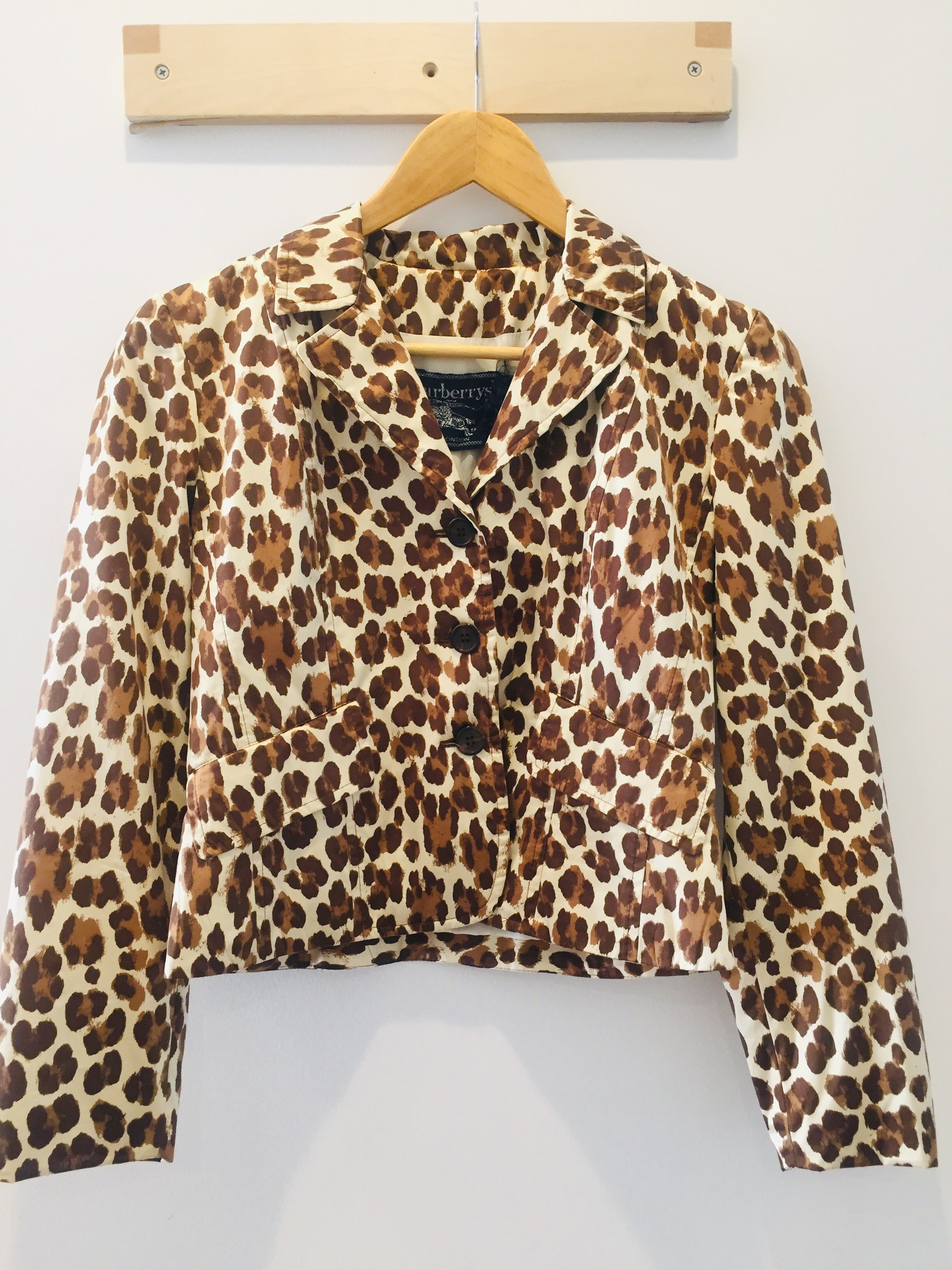 Burberry London Vintage Short Leopard Trench XS S