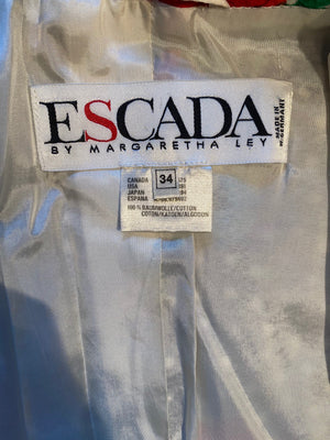 Escada Vintage 1989 Cotton Polka Dot Jacket 34 XS S