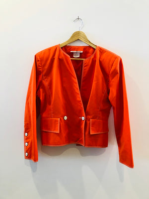 Courreges Vintage Orange Short Jacket Classic M
