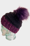 Plum Shadow Foxy Crochet Beanie