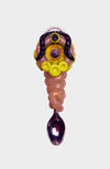 Opal and Singing Quartz Creature Eyeball Spoon Pendant