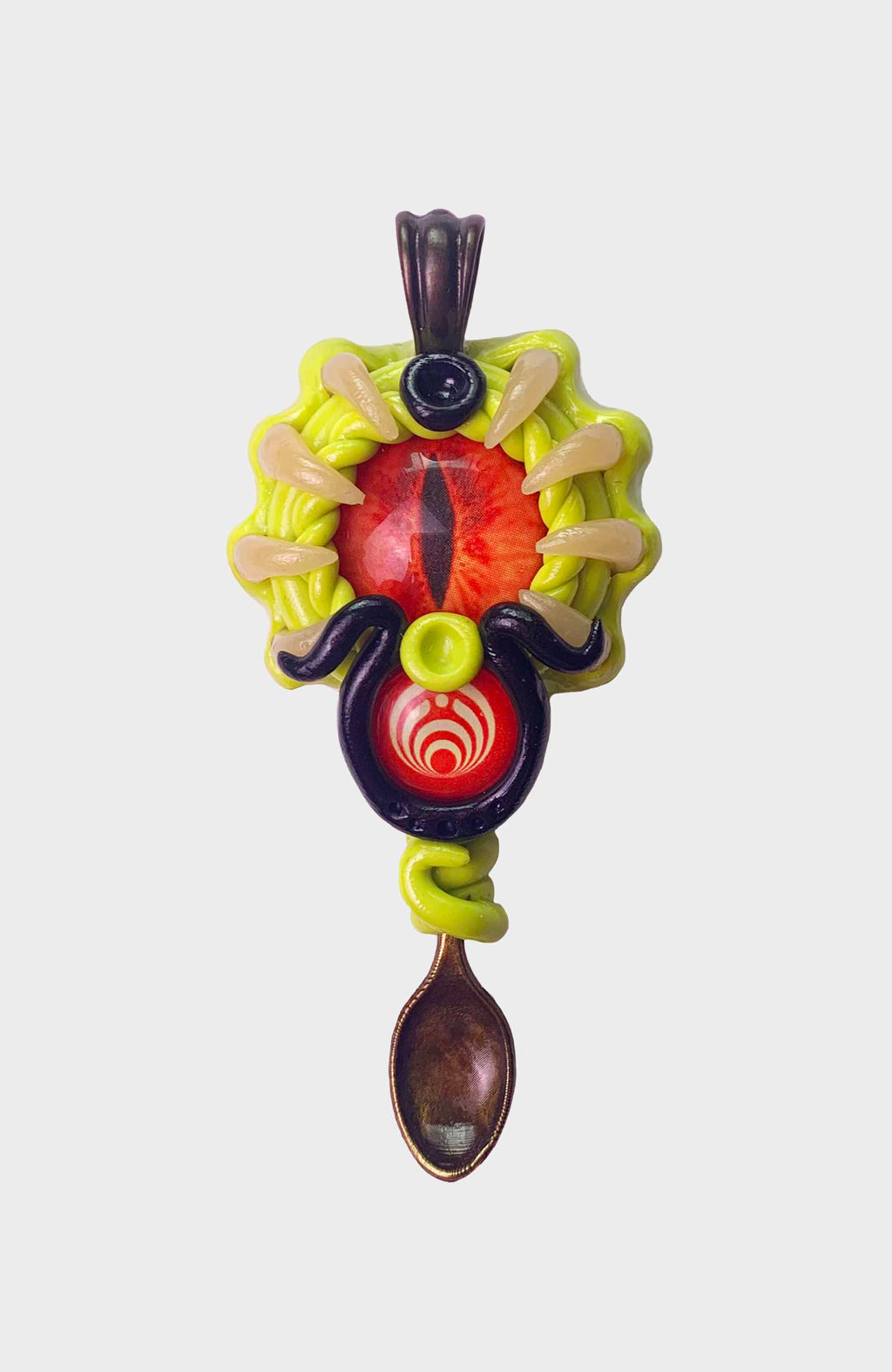 Bass Creature Spoon Pendant