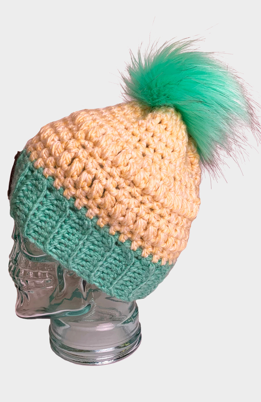 Mint Madness Crochet Beanie