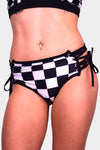 Cosmic Flow Checkered Peak-A-Boo Halter