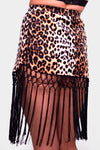 Hex Exotica Leopard Print Cheeky Mini Skirt