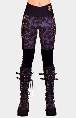 Hex Exotica Vegan Leather Cutout Bell Bottoms