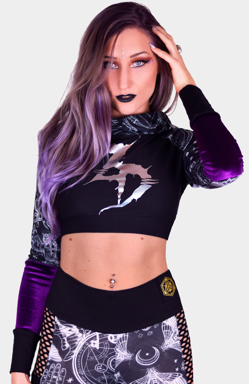 **CUSTOMIZABLE** Disturbia Crop Hoodie