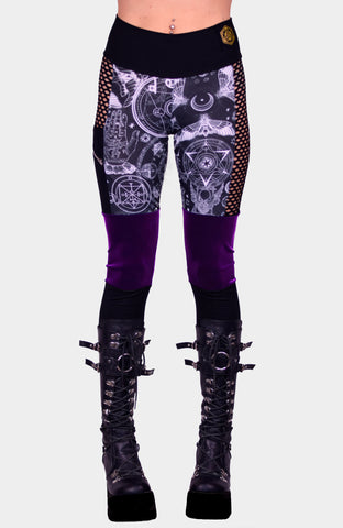 Midnight Bloom Bell Bottom Suspender