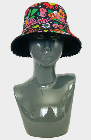 Butterfly Being Reversible Bucket Hat - Reflective