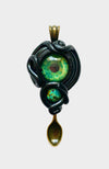 UV Reactive - Creature Spoon Pendant with Jade Gemstone