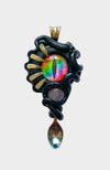 Abyss Creature Spoon Pendant with Turquoise Gemstone