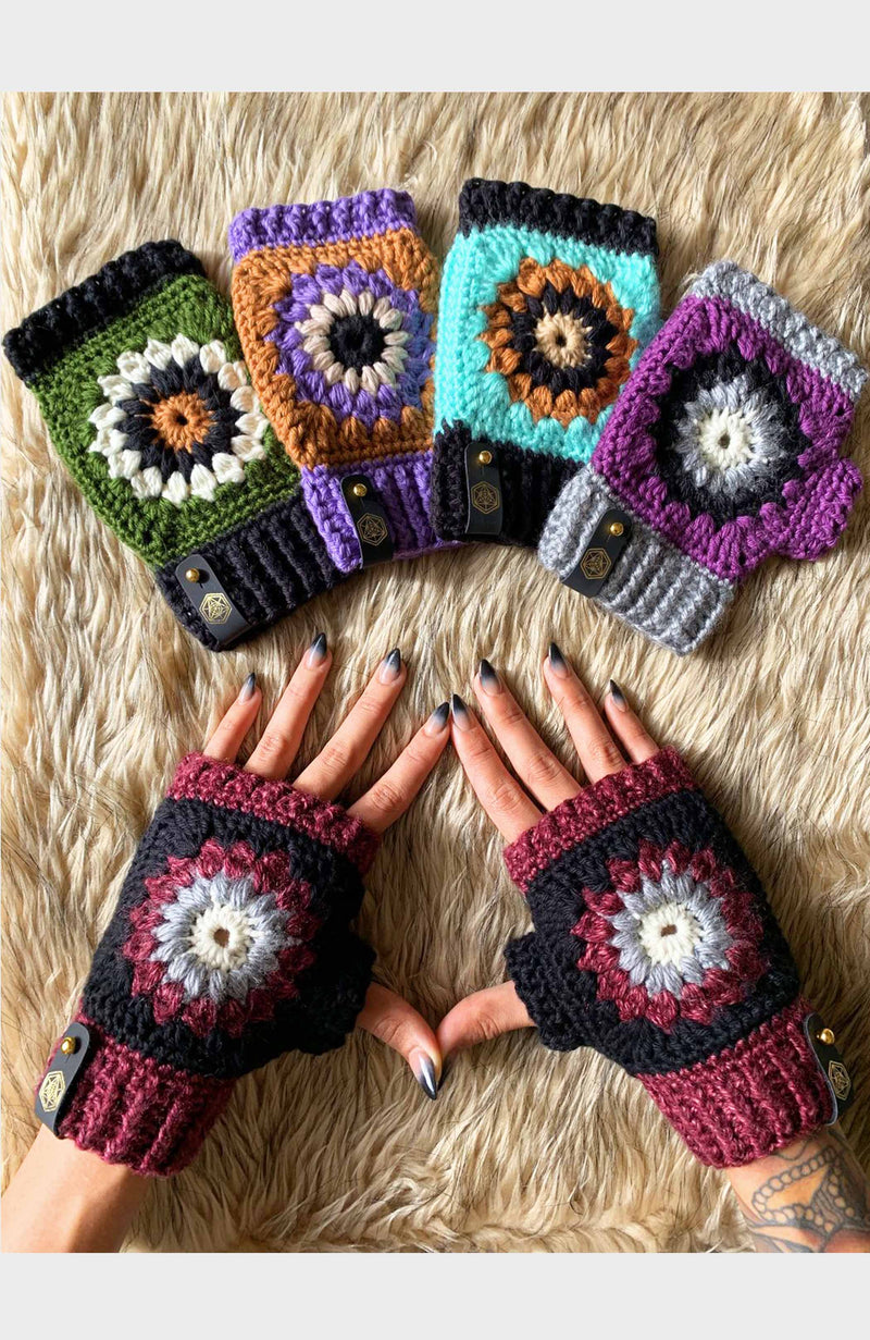 Fingerless Mandala Glove