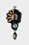 Creature Spoon Pendant with Turquoise Gemstone