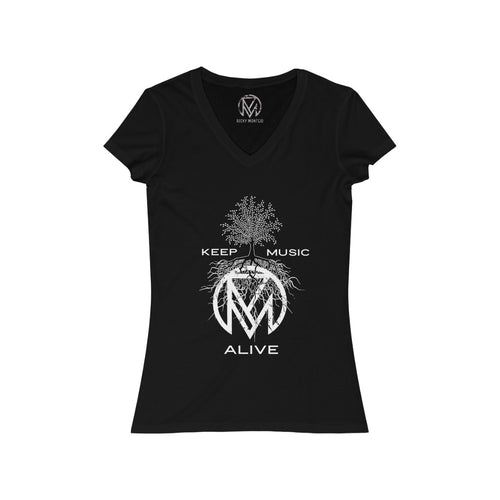 """Keep Music Alive"" Women's V-Neck Tee"
