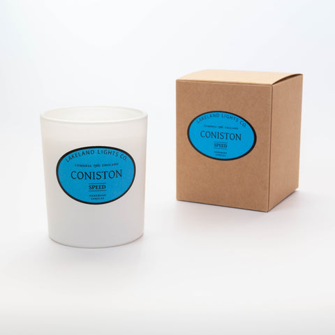 Our CONISTON SPEED 100% soy wax scented candle