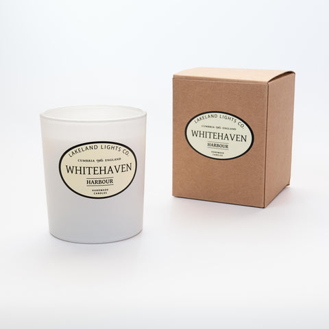 Our WHITEHAVEN HARBOUR luxury scented soy candle
