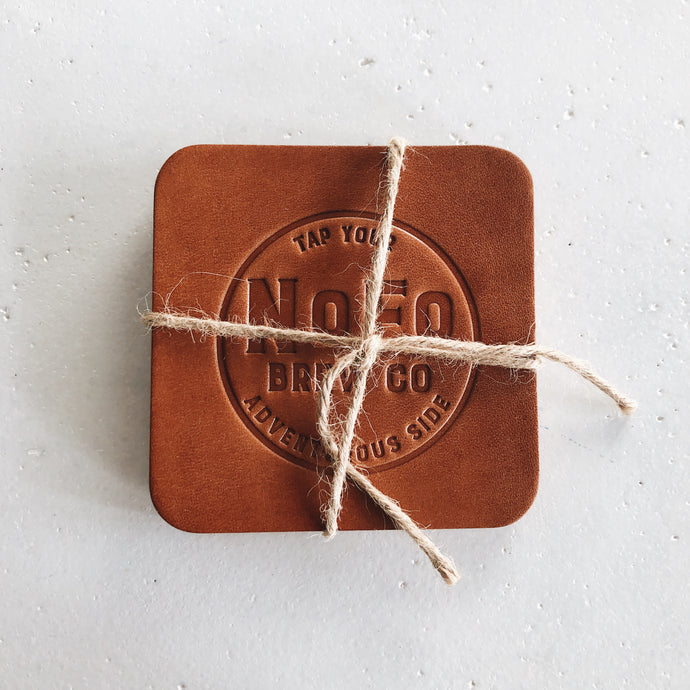 Leather Coasters (Set of 2)