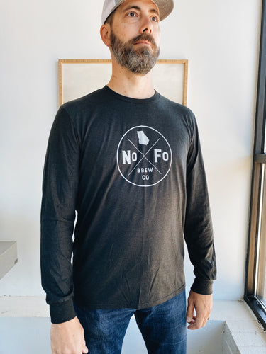 Black Long Sleeve Compass Logo Shirt