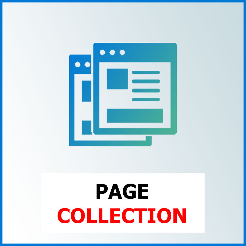 Page Collection, pour Webdesign e commerce