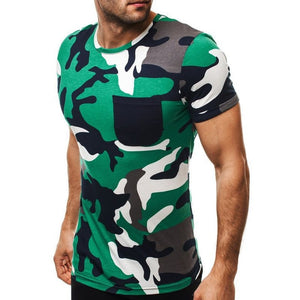 New Fashion Men's T-Shirt 2019 Summer Short Sleeve O-neck Camouflage T Shirt Men Brand Clothes Slim Fit Tshirt Army Camiseta 2XL