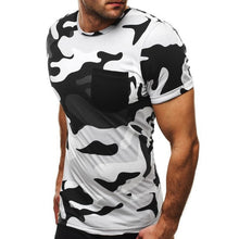 Load image into Gallery viewer, New Fashion Men's T-Shirt 2019 Summer Short Sleeve O-neck Camouflage T Shirt Men Brand Clothes Slim Fit Tshirt Army Camiseta 2XL