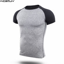 Load image into Gallery viewer, 2019 New Brand Clothing Gyms Fittness T-shirt Mens Muscle Bodybuilding T-shirt Hommes Gyms T Shirt Men Crossfit Summer Top 3XL