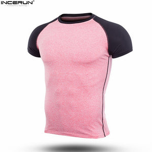 2019 New Brand Clothing Gyms Fittness T-shirt Mens Muscle Bodybuilding T-shirt Hommes Gyms T Shirt Men Crossfit Summer Top 3XL
