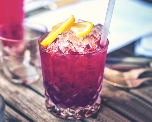 Blueberries iced tea