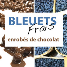 Load image into Gallery viewer, bleuets au chocolat, panier de bleuets frais