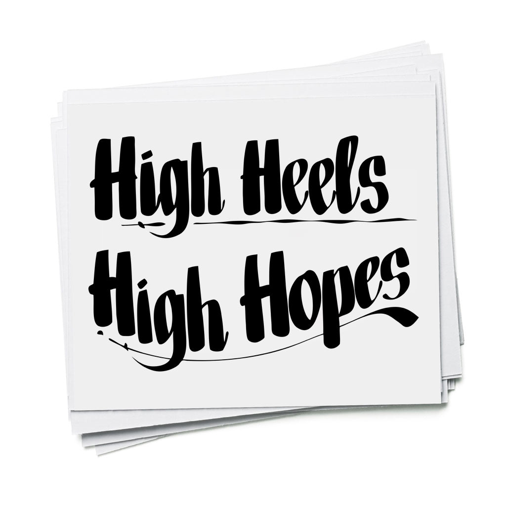 HIGH HEELS HIGH HOPES by Baron Von Fancy | Open Edition and Limited Edition Prints