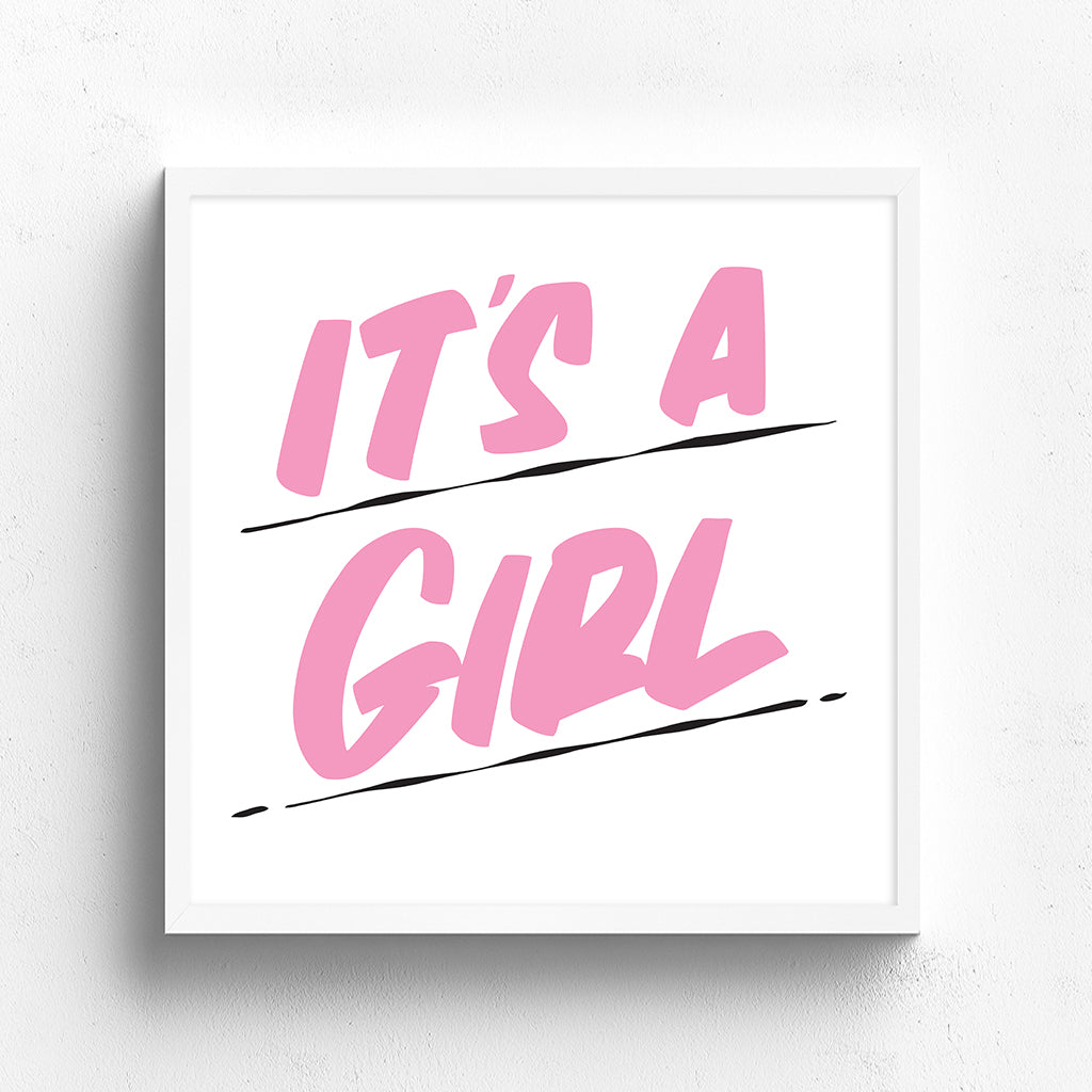 IT'S A GIRL by Baron Von Fancy | Open Edition and Limited Edition Prints