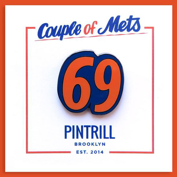 "Couple of Mets ""69"" Pin"