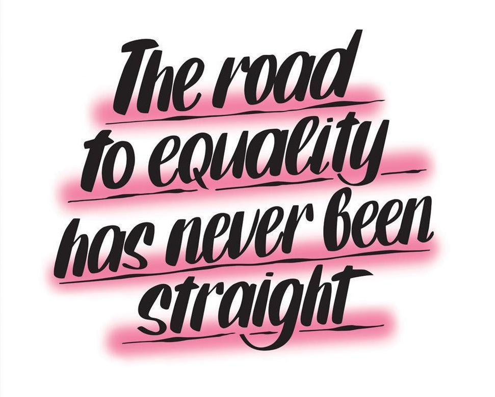The Road to Equality Has Never Been Straight by Baron Von Fancy | Open Edition and Limited Edition Prints
