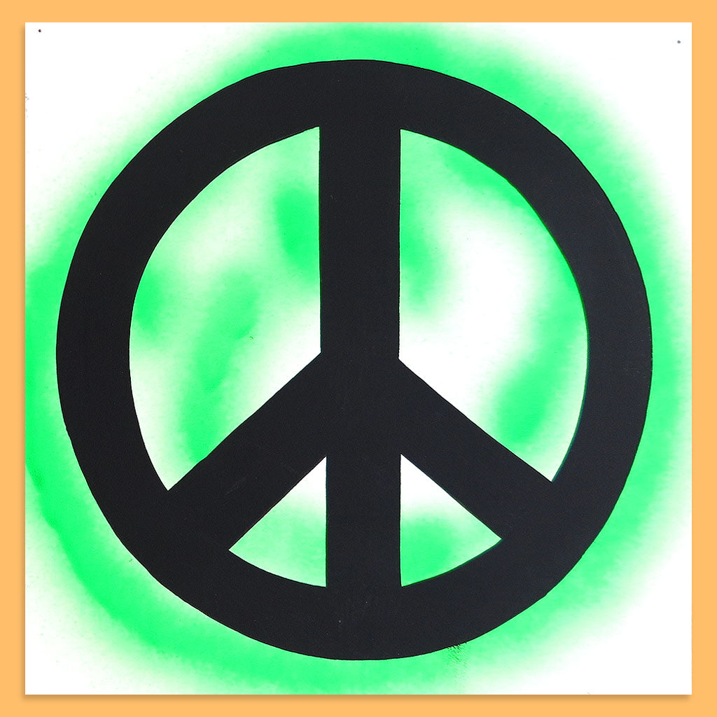 Peace Sign (Green) by Baron Von Fancy | Open Edition and Limited Edition Prints