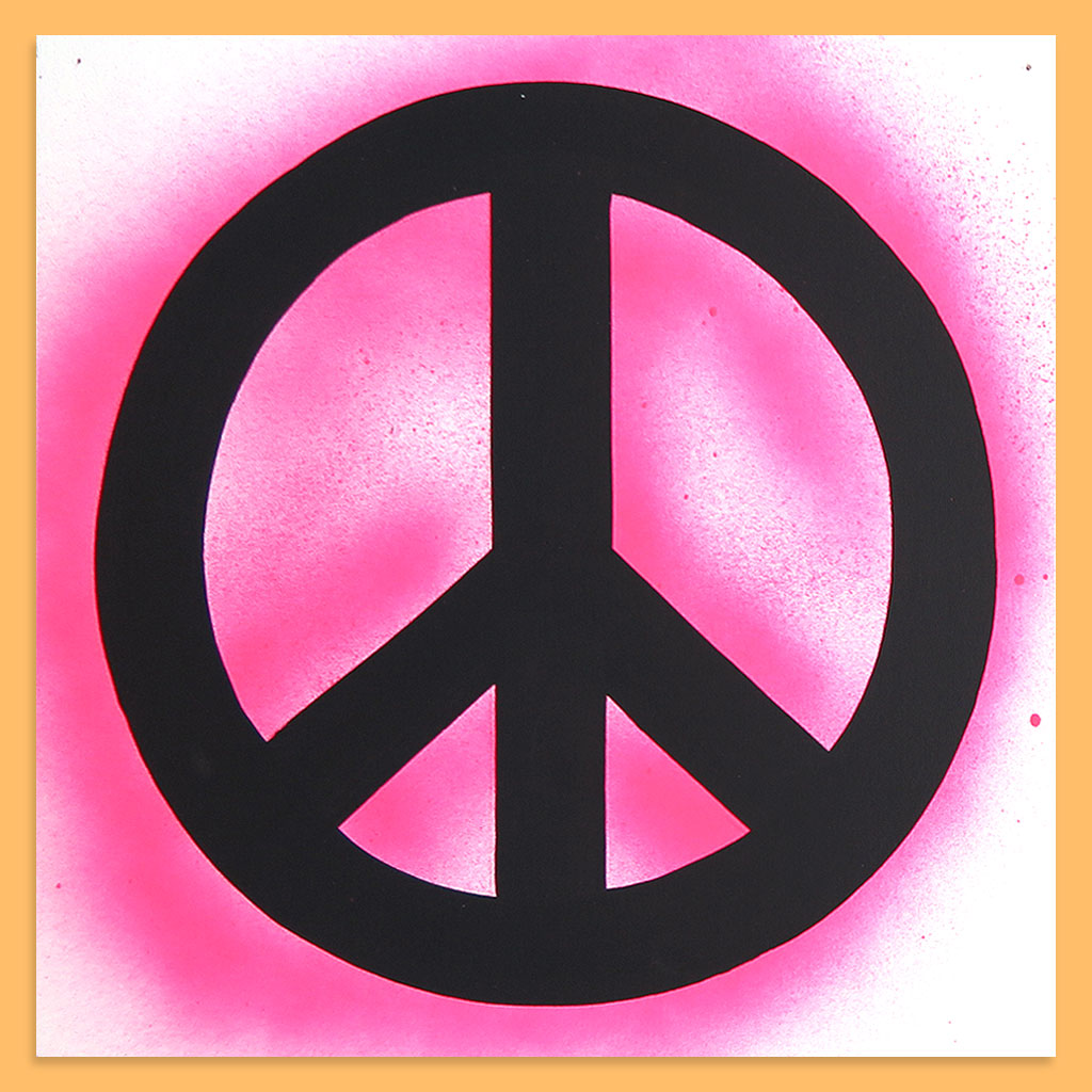 Peace Sign (Pink) by Baron Von Fancy | Open Edition and Limited Edition Prints