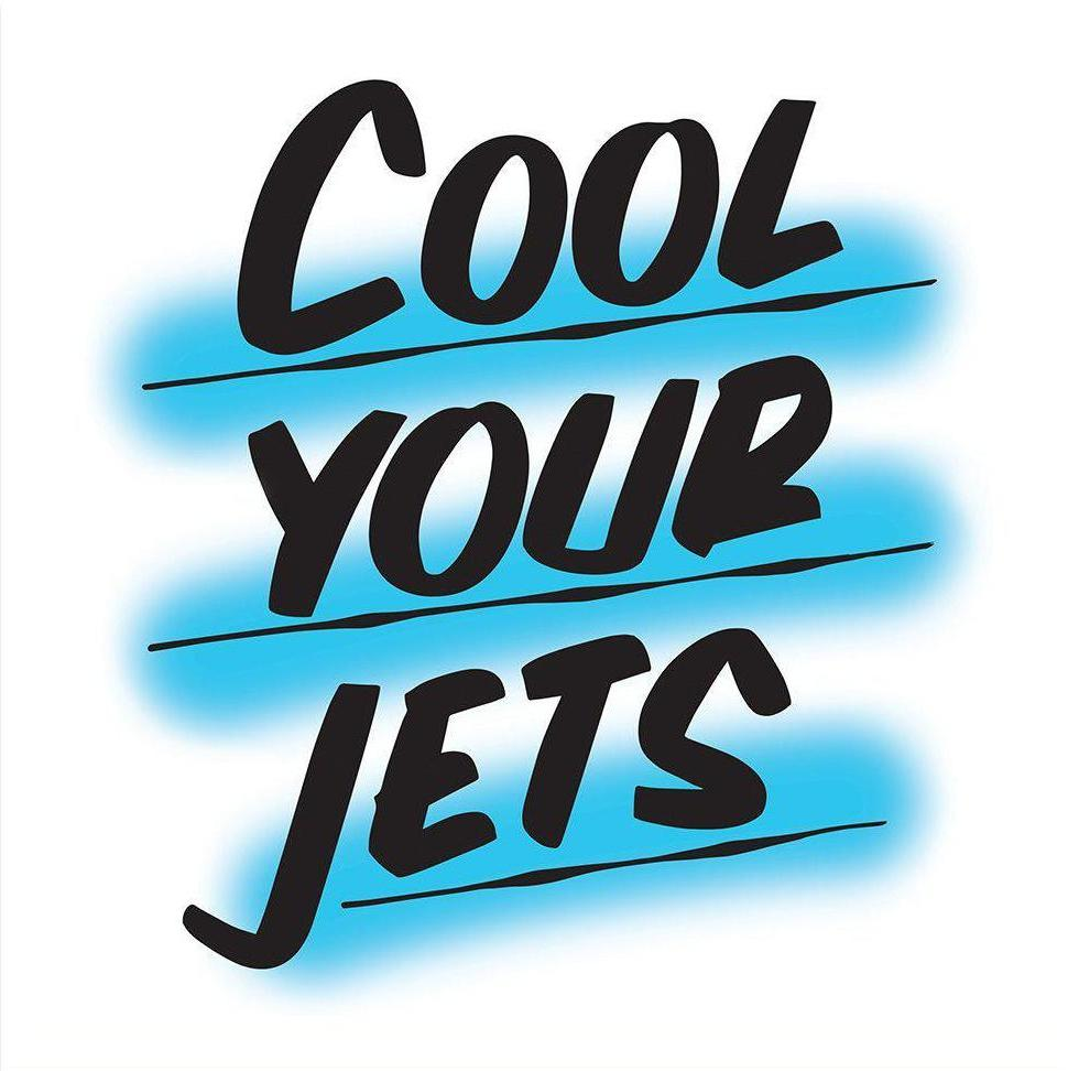 COOL YOUR JETS, BLUE by Baron Von Fancy | Open Edition and Limited Edition Prints