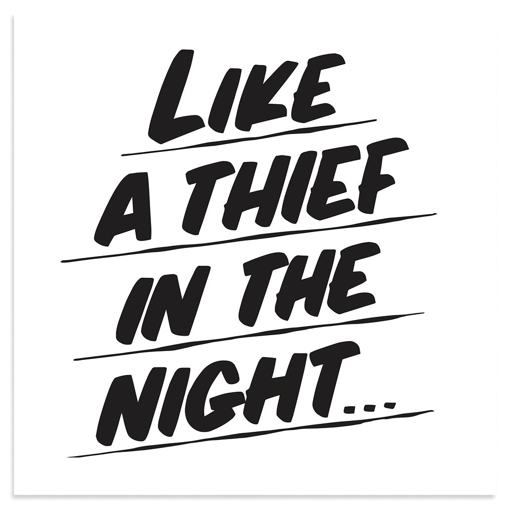 LIKE A THIEF IN THE NIGHT by Baron Von Fancy | Open Edition and Limited Edition Prints
