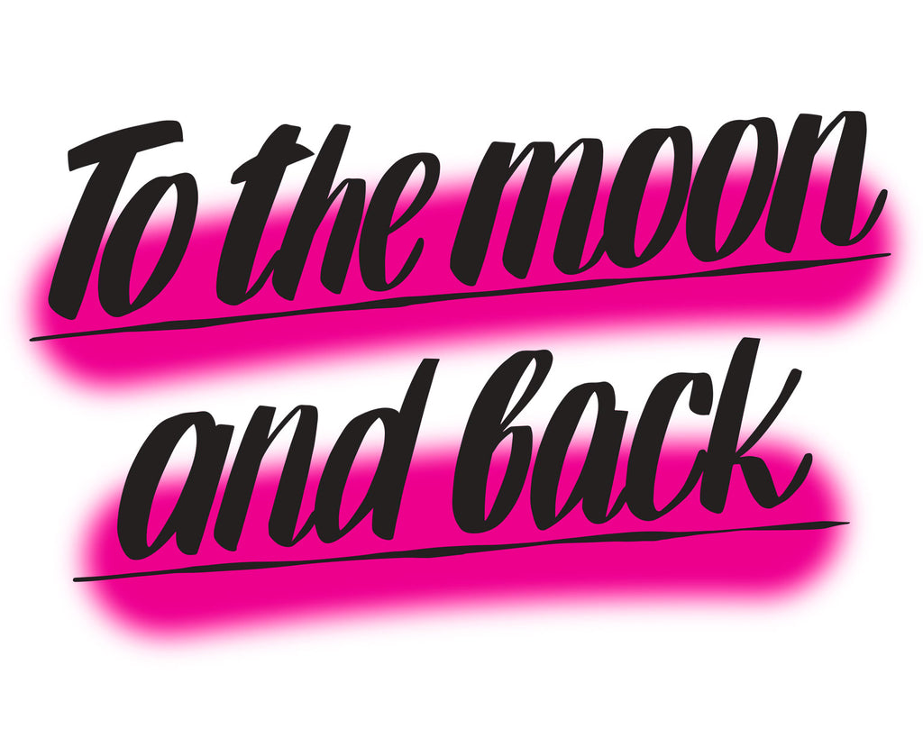 To The Moon and Back Pink by Baron Von Fancy | Open Edition and Limited Edition Prints