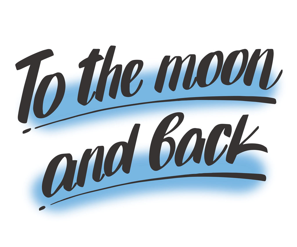 To The Moon and Back, Blue by Baron Von Fancy | Open Edition and Limited Edition Prints