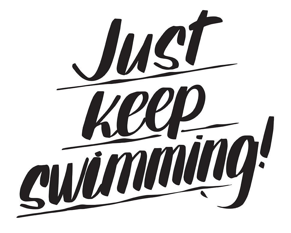 JUST KEEP SWIMMING by Baron Von Fancy | Open Edition and Limited Edition Prints