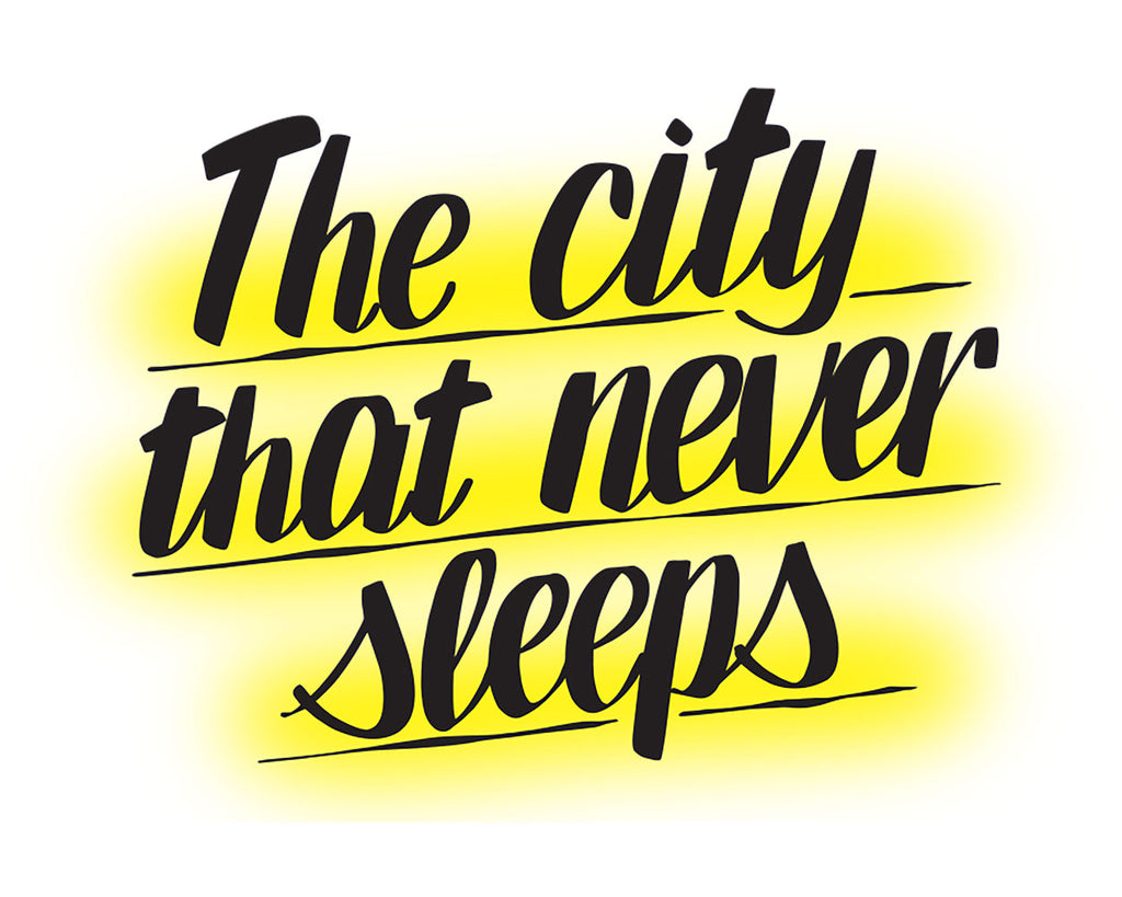 THE CITY THAT NEVER SLEEPS by Baron Von Fancy | Open Edition and Limited Edition Prints