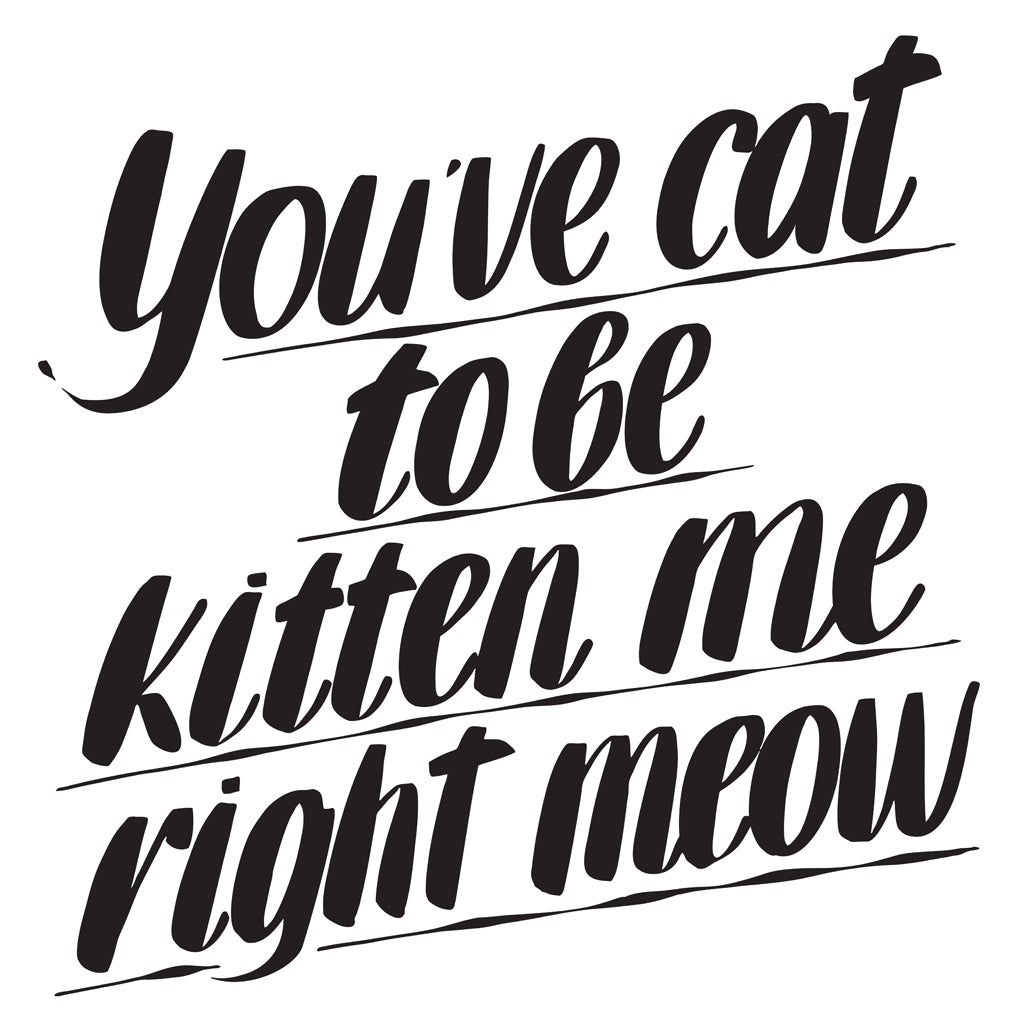YOU'VE CAT TO BE KITTEN ME RIGHT MEOW by Baron Von Fancy | Open Edition and Limited Edition Prints